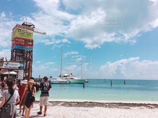 フェリーとカリブ海の写真・画像素材[1202827]