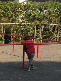 公園でいじける男子の写真・画像素材[1092830]