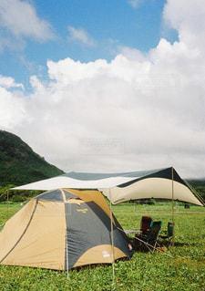 草原のテントの写真・画像素材[2550053]