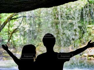 鍋ヶ滝の裏側の写真・画像素材[1852442]