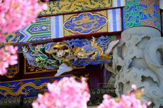 花と龍の飾りの写真・画像素材[1093042]