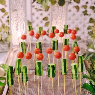 きゅうりとトマト刺しの写真・画像素材[2251045]