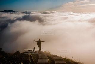 雲の上からの写真・画像素材[1113077]