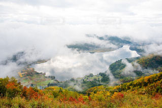 雲の上からの眺めの写真・画像素材[1113120]