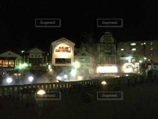 草津温泉の夜景の写真・画像素材[1095988]