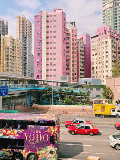 香港のカラフルな街並みの写真・画像素材[1615337]