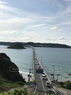 青い海と角島大橋の写真・画像素材[1097017]