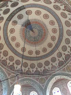 アヤソフィア宮殿内の天井の写真・画像素材[1193818]