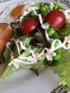 食べ物、サンドイッチとサラダのプレート - No.1108708