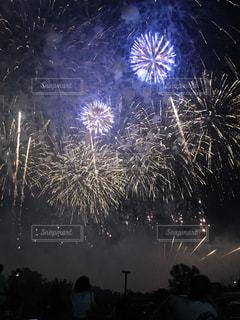 夜空の花火の写真・画像素材[1486940]