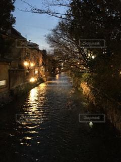 京都の幻想的な夜景の写真・画像素材[1098509]