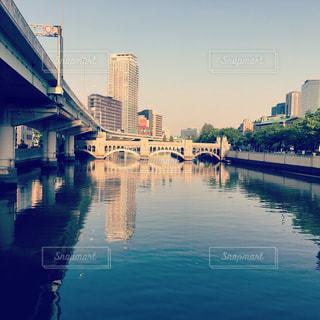淀屋橋の夕暮れの写真・画像素材[1139454]