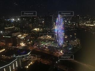 夜の街の景色の写真・画像素材[1261381]
