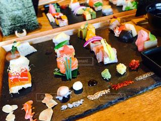 手織り寿司の写真・画像素材[1104512]