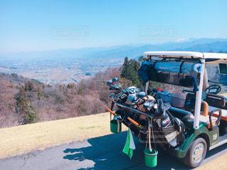 ゴルフ場からの景色の写真・画像素材[1100157]