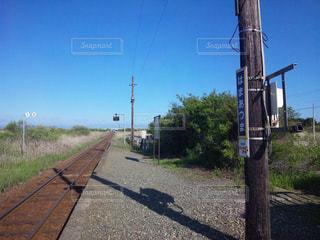 駅と線路の写真・画像素材[1100737]