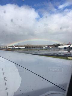 空港と虹の写真・画像素材[1101226]