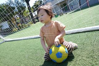 サッカーの練習の写真・画像素材[1225908]