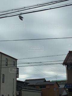 近くの家の前の通りをの写真・画像素材[1101523]