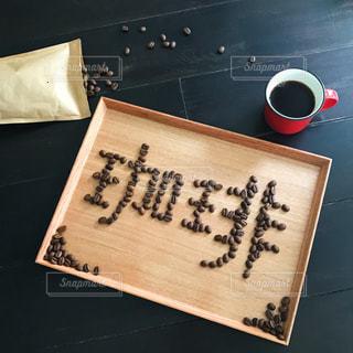 コーヒー豆で文字 珈琲の写真・画像素材[1102389]