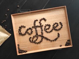 コーヒー豆 文字の写真・画像素材[1102393]
