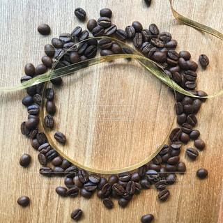 コーヒー豆 リースの写真・画像素材[1102394]