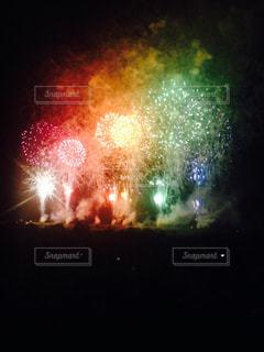 空に花火の写真・画像素材[1101846]
