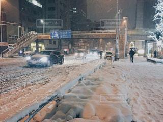 大雪の東京の写真・画像素材[1102042]