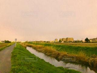 夕方の散歩の写真・画像素材[1109119]