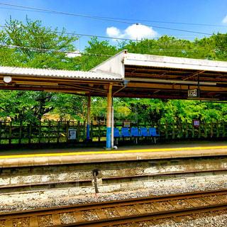東武アーバンパークライン七里駅のホーム。の写真・画像素材[1136262]