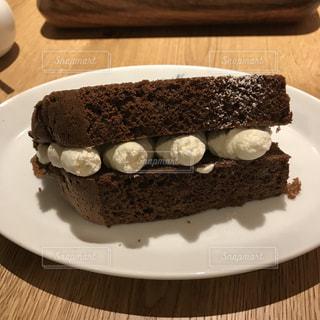 シフォンケーキ ショコラの写真・画像素材[1154693]