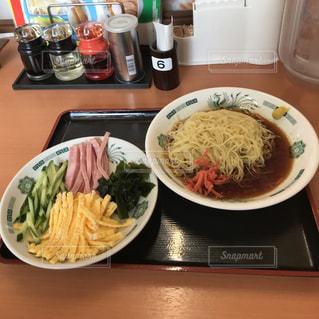 黒酢しょうゆ冷し麺の写真・画像素材[1202964]