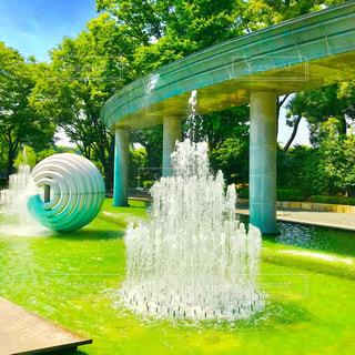 公園の噴水の写真・画像素材[1206327]