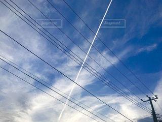 ひこうき雲の写真・画像素材[1210109]