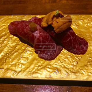 和牛の炙り寿司の写真・画像素材[1224383]
