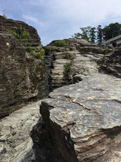 川沿いの岩の写真・画像素材[1103055]