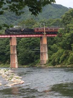 橋とSLの写真・画像素材[1103056]
