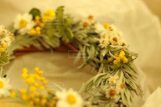 花のリース アップの写真・画像素材[1102803]