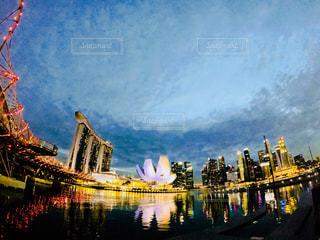 シンガポール夜景の写真・画像素材[1105231]