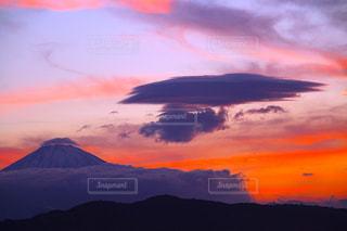 富士山の夕焼けの写真・画像素材[1103632]