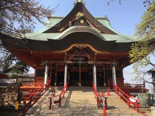 春の神社の写真・画像素材[1106310]