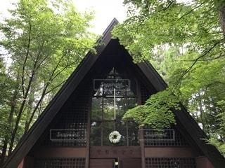 軽井沢高原教会の写真・画像素材[1320210]