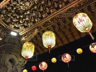 松山慈祐宮 灯の写真・画像素材[1335199]