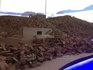安藤忠雄展 挑戦 直島 模型の写真・画像素材[1402066]