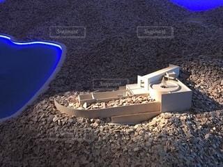 安藤忠雄展 挑戦 直島 模型の写真・画像素材[1402069]