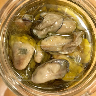 牡蠣のオリーブオイル漬けの写真・画像素材[1713721]
