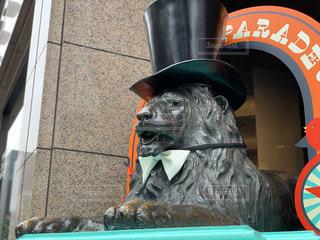 ライオン像の写真・画像素材[2079543]