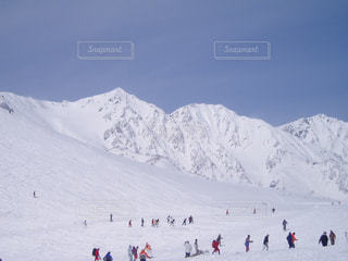 雪の白馬三山 - No.1105501