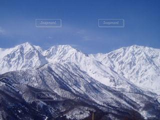 雪の白馬三山の写真・画像素材[1115117]