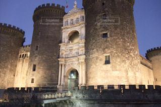 イタリアナポリの古城の写真・画像素材[1129378]